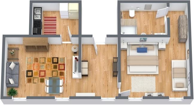 Planimetria Appartamento N.284