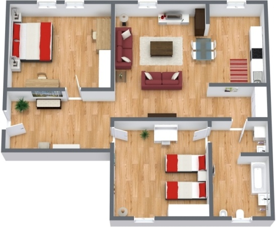 Planimetria Appartamento N.285