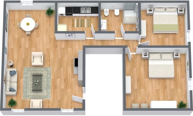 Planimetria Appartamento N.287