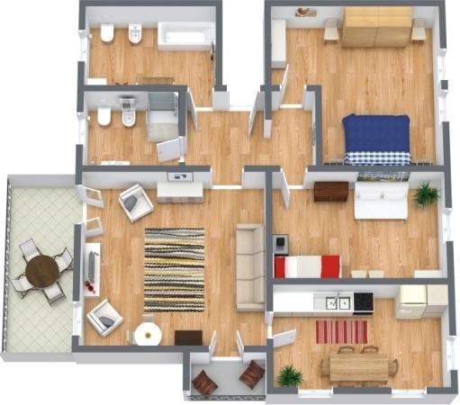 Planimetria Appartamento N.288