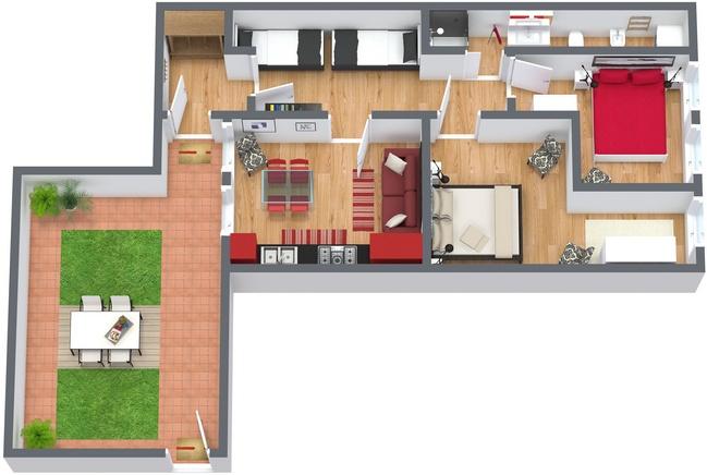 Planimetria Appartamento N.82