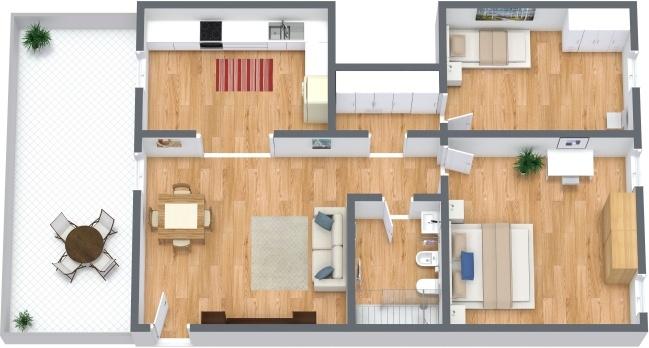 Planimetria Appartamento N.291
