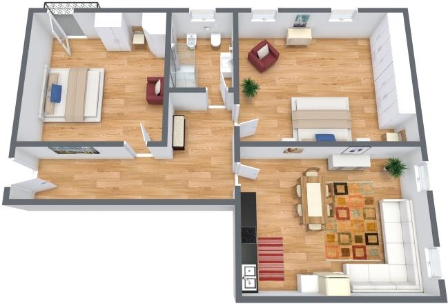Planimetria Appartamento N.300