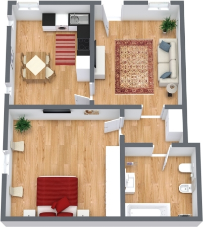 Planimetria Appartamento N.315