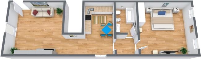 Planimetria Appartamento N.316