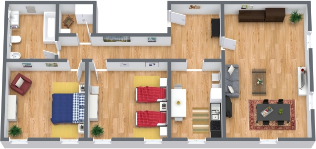Planimetria Appartamento N.317