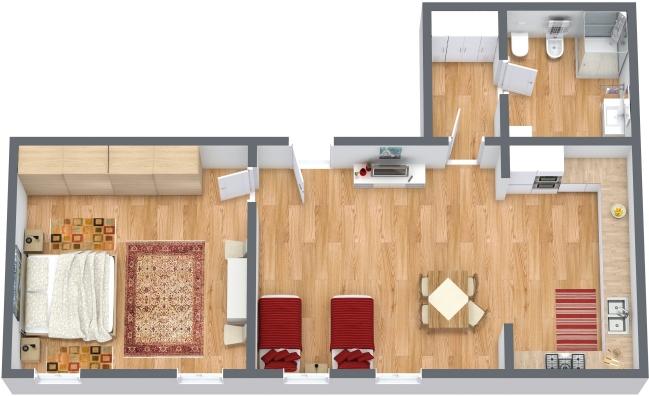 Planimetria Appartamento N.319