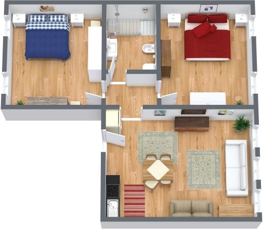 Planimetria Appartamento N.327