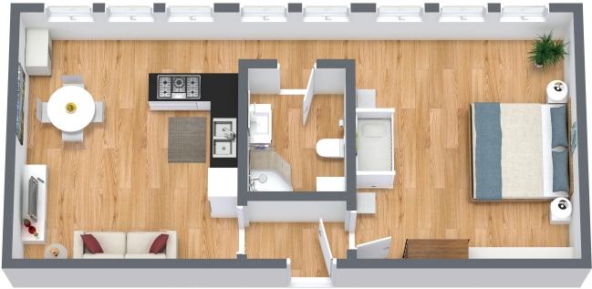 Planimetria Appartamento N.329