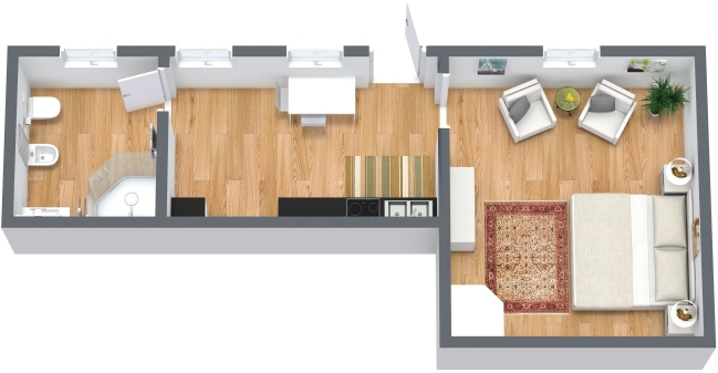 Planimetria Appartamento N.332
