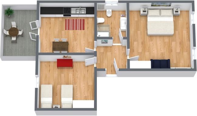Planimetria Appartamento N.341
