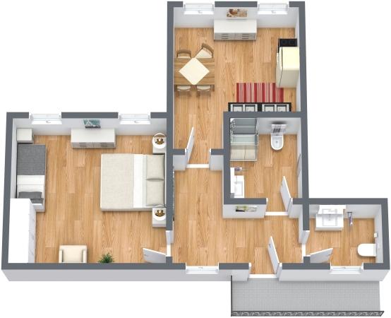 Planimetria Appartamento N.348