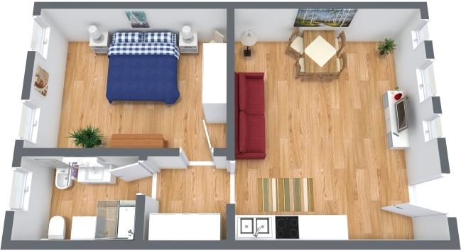 Planimetria Appartamento N.355