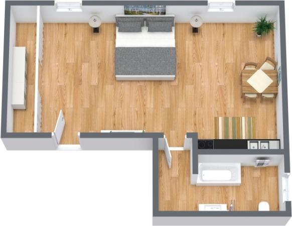 Planimetria Appartamento N.357