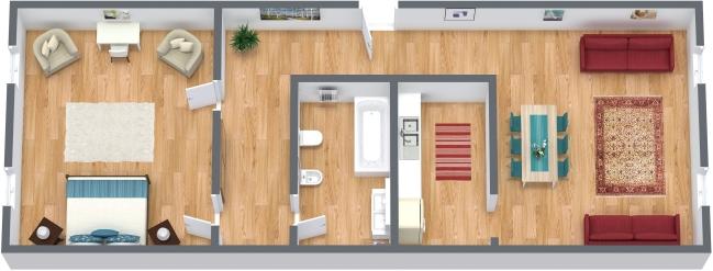 Planimetria Appartamento N.361