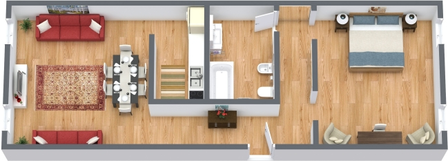 Planimetria Appartamento N.362