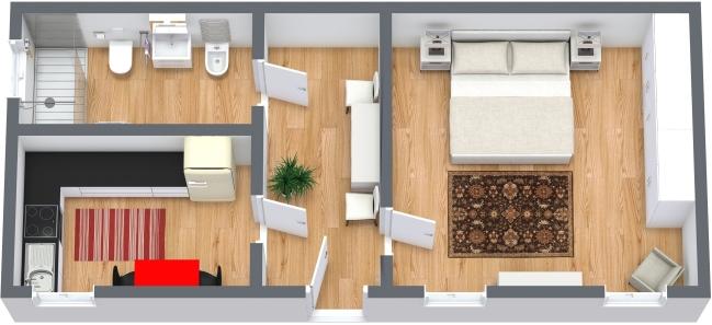 Planimetria Appartamento N.368