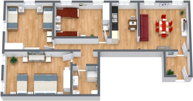 Planimetria Appartamento N.372