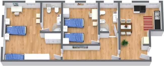 Planimetria Appartamento N.382