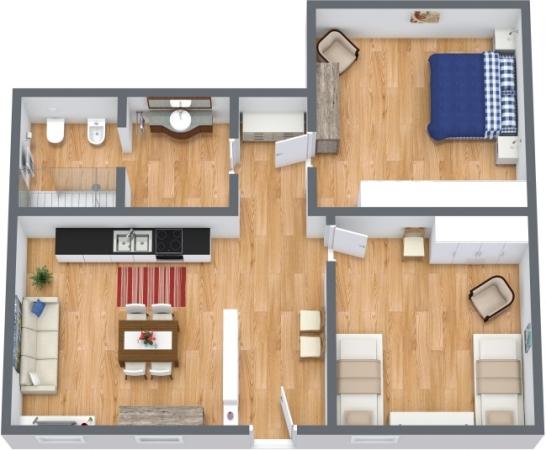 Planimetria Appartamento N.388