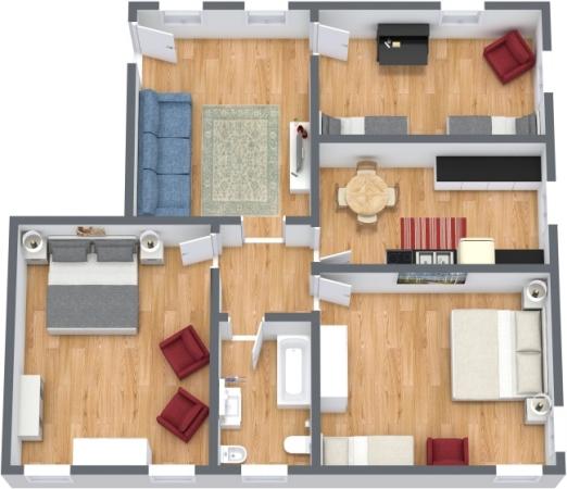 Planimetria Appartamento N.390