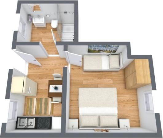 Planimetria Appartamento N.391