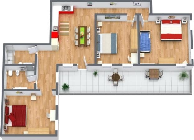 Planimetria Appartamento N.398