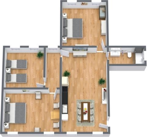 Planimetria Appartamento N.399