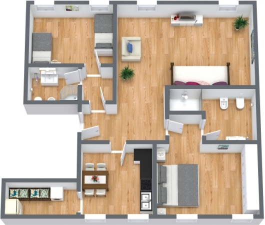 Planimetria Appartamento N.402