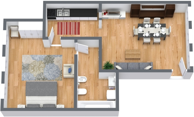 Planimetria Appartamento N.404