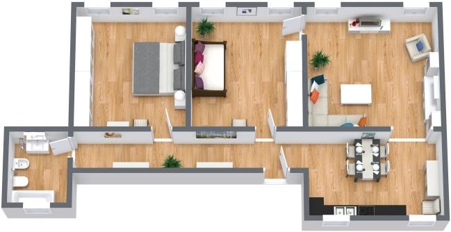 Planimetria Appartamento N.405