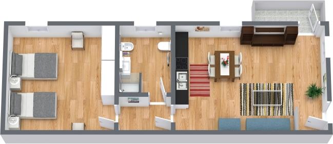 Planimetria Appartamento N.408