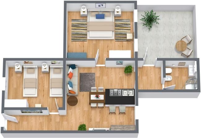 Planimetria Appartamento N.411