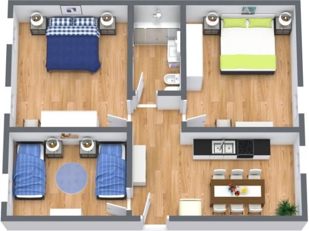 Planimetria Appartamento N.412