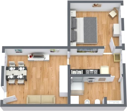 Planimetria Appartamento N.413