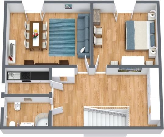 Planimetria Appartamento N.414