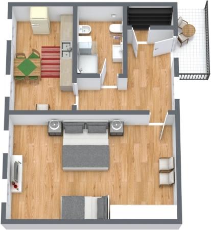 Planimetria Appartamento N.425