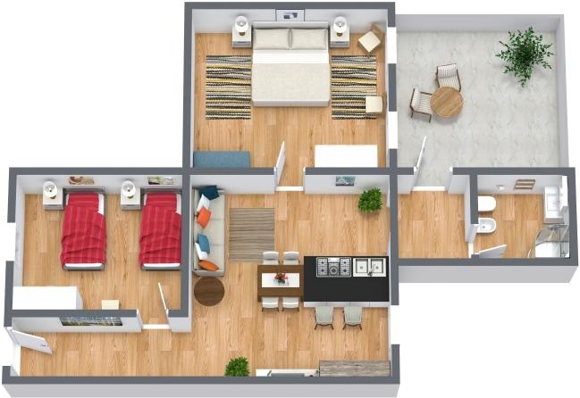 Planimetria Appartamento N.427