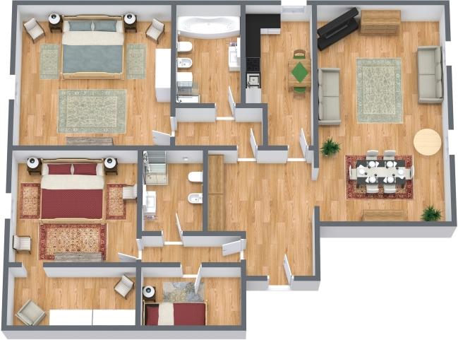 Planimetria Appartamento N.429