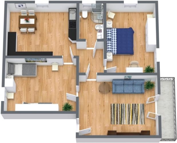 Planimetria Appartamento N.438