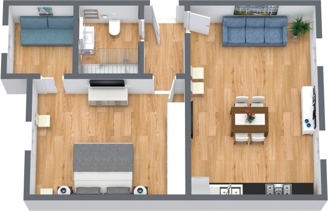 Planimetria Appartamento N.439