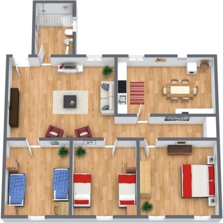Planimetria Appartamento N.45