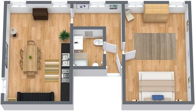 Planimetria Appartamento N.52