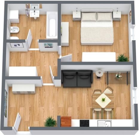 Planimetria Appartamento N.55