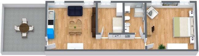 Planimetria Appartamento N.8