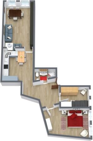 Planimetria Appartamento N.77