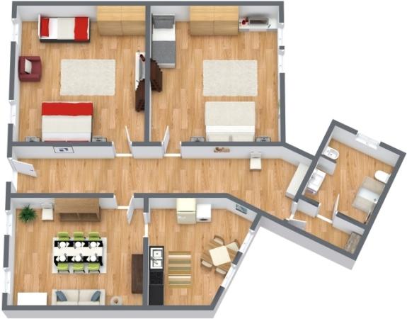 Planimetria Appartamento N.124
