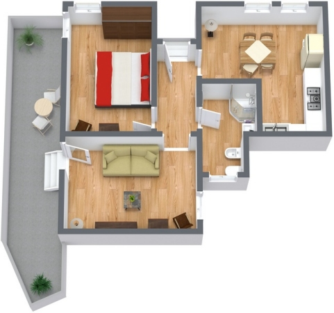 Planimetria Appartamento N.91